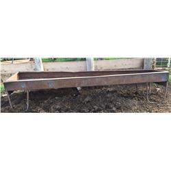Steel 12 ft feed trough