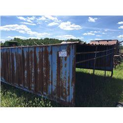Metal clad calf shelter 11×10 ft