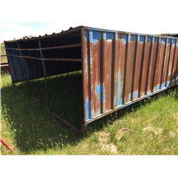 Metal clad calf shelter 10×15 ft