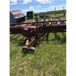 Ajax bale wagon stack mover, with hyd. Push arm , hauls 11 round bales