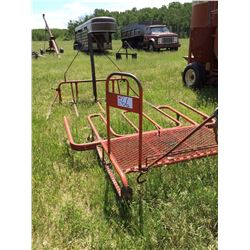 Square bale stooker and FEL square bale fork sells as one unit