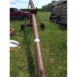 Versatile 30×6 inch grain auger w/ B & S motor