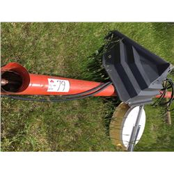Brandt 12×5 inch grain auger with hydr. hoses,