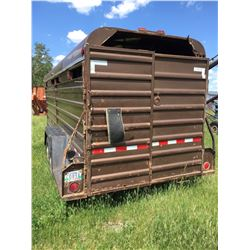 1977 WW  Gooseneck 6×20 ft. stock trailer, new fir floor,