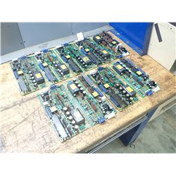 Lot of 9 Misc Fanuc Velocity Control Drive Boards