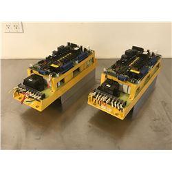 (2) FANUC A06B-6058-H006 SERVO AMPLIFIER