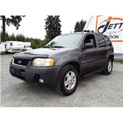 H6 --  2002 FORD ESCAPE XLT , Grey , 349322  KM's