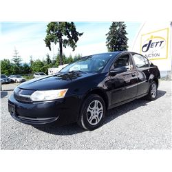 B2 --  2003 SATURN ION , Black , 137342  KM's