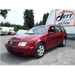 D6 --  2004 VW JETTA GLS , Red , 199197  KM's