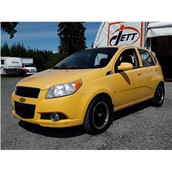 C1 --  2009 CHEVROLET AVEO LS  , Yellow , 168650  KM's