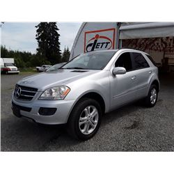 D5 --  2007 MERCEDES ML320 CDI SUV, SILVER, 202,045 KMS