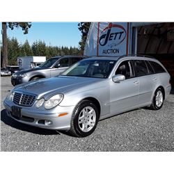 C6 --  2004 MERCEDES E320S 4-MATIC  WAGON, SILVER, 168,423 KMS