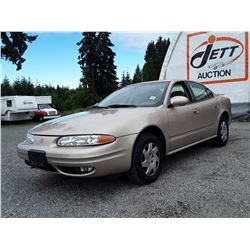 A10 --  2002 OLDSMOBILE ALERO GL , Brown , 333955  KM's