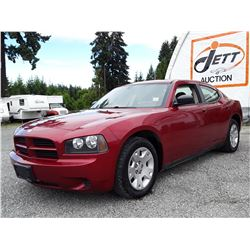 A12A --  2007 DODGE CHARGER SE  , Red , 219766  KM's