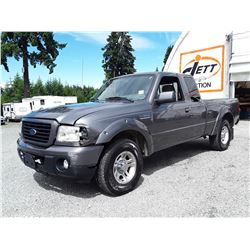 F5 --  2008 FORD RANGER EXT CAB , Grey , 178062  KM's