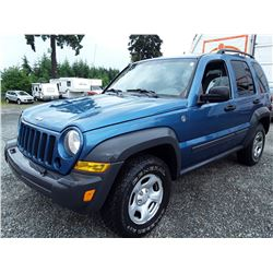 B5 --  2006 JEEP LIBERTY SPORT , Blue , 299250  KM's