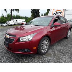 E1 --  2011 CHEVROLET CRUZE ECO , Red , 122719  KM's