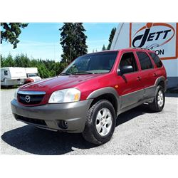F6 --  2001 MAZDA TRIBUTE LX , Red , 199,182 MILES  KM's