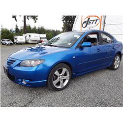C4 --  2006 MAZDA 3 S , Blue , 167277  KM's