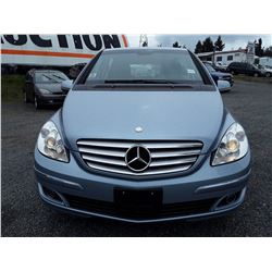 C3 --  2008 MERCEDES B200 HATCHBACK, BLUE, 127,771 KMS