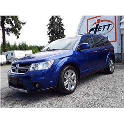 E4 --  2012 DODGE JOURNEY R/T AWD SUV, BLUE, 190,867 KMS