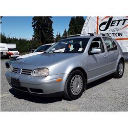 B6 --  2002 VW GOLF GLS TDI  , Silver , 337637  KM's