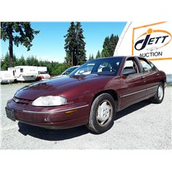 A1 --  1998 CHEVROLET LUMINA , Red , 158359  KM's