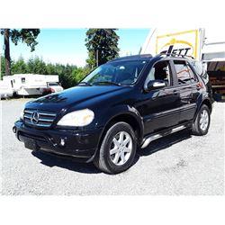 I6 -- 2002 MERCEDES ML500 SUV, BLACK, 254,258 KMS