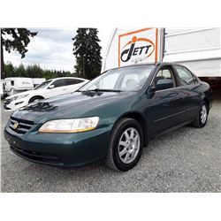 E3 --  2002 HONDA ACCORD SE , Green , 236744  KM's
