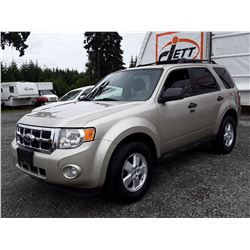 H1 --  2010 FORD ESCAPE XLT , Brown , 190895  KM's