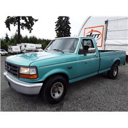 """A2 -- 1994 F150 PICKUP, GREEN, 203,583 KMS """"NO RESERVE"""""""