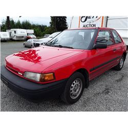 """A5 --  1992 MAZDA 323 DX  , Red , 356221  KM's """"NO RESERVE"""""""
