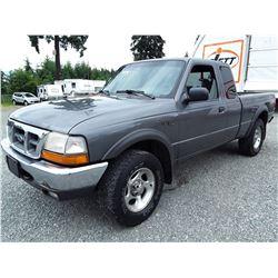 G1 --  1999 FORD RANGER SUPER CAB 4X4 , Grey , 264996  KM's