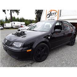 B4 --  2003 VW JETTA WOLFSBURG  , Black , 277171  KM's