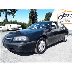 A4 --  2002 CHEVROLET IMPALA  , Green , UNKNOWN  KM's