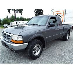 G1 --  1999 FORD RANGER SUPER CAB 4X4 , Grey , 264996  KM's