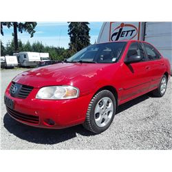 A1 --  2006 NISSAN SENTRA , Red , 209131  KM's