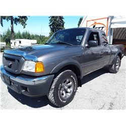 F4 --  2004 FORD RANGER SUPER CAB 4X4, , Grey , 242195  KM's