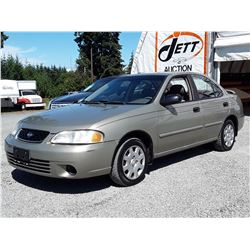 "A4 --  2001 NISSAN SENTRA XE  , Brown , 226958  KM's ""NO RESERVE"""