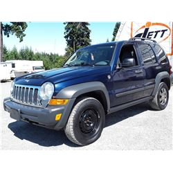 F6 --  2006 JEEP LIBERTY SPORT 4X4 , Blue , 182435  KM's
