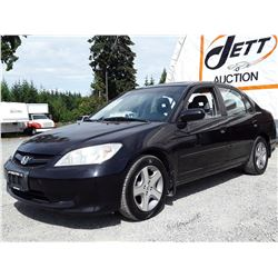 J6 --  2005 HONDA CIVIC SI  , Black , 205495  KM's