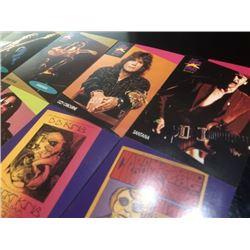 1991 Gitar Jimes Marshall Hendrix,Santana,Jimmy Page etc Musician card 8 pieces set