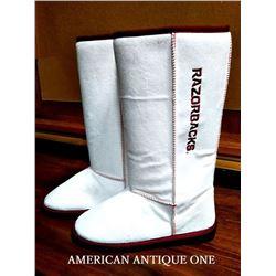 Arkansas Razorbacks football NCAA College American Football Boa Boots
