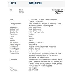 Brand Nelson - 110 Steers