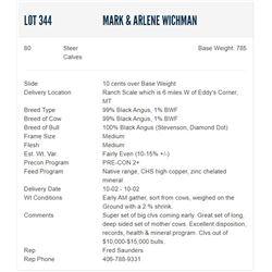 Mark & Arlene Wichman - 80 Steers