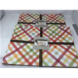 Printed Placemats- Autumn Gingham (2 x 4)