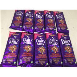 Cadbury Dairy Milk Fireworks Milk Chocolate with Candy (10 x 90g)