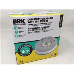 BRK Combination Alarm with LED Strobe (Smoke, Carbon Monoxide and Strobe Light)