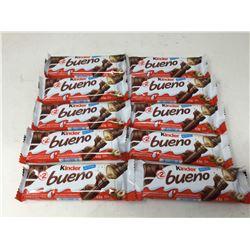 Kinder Bueno Milk Chocolate Covered Wafers (10 x 43g)