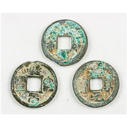 Three Assorted Chinese 1068-77 Xining Tongbao